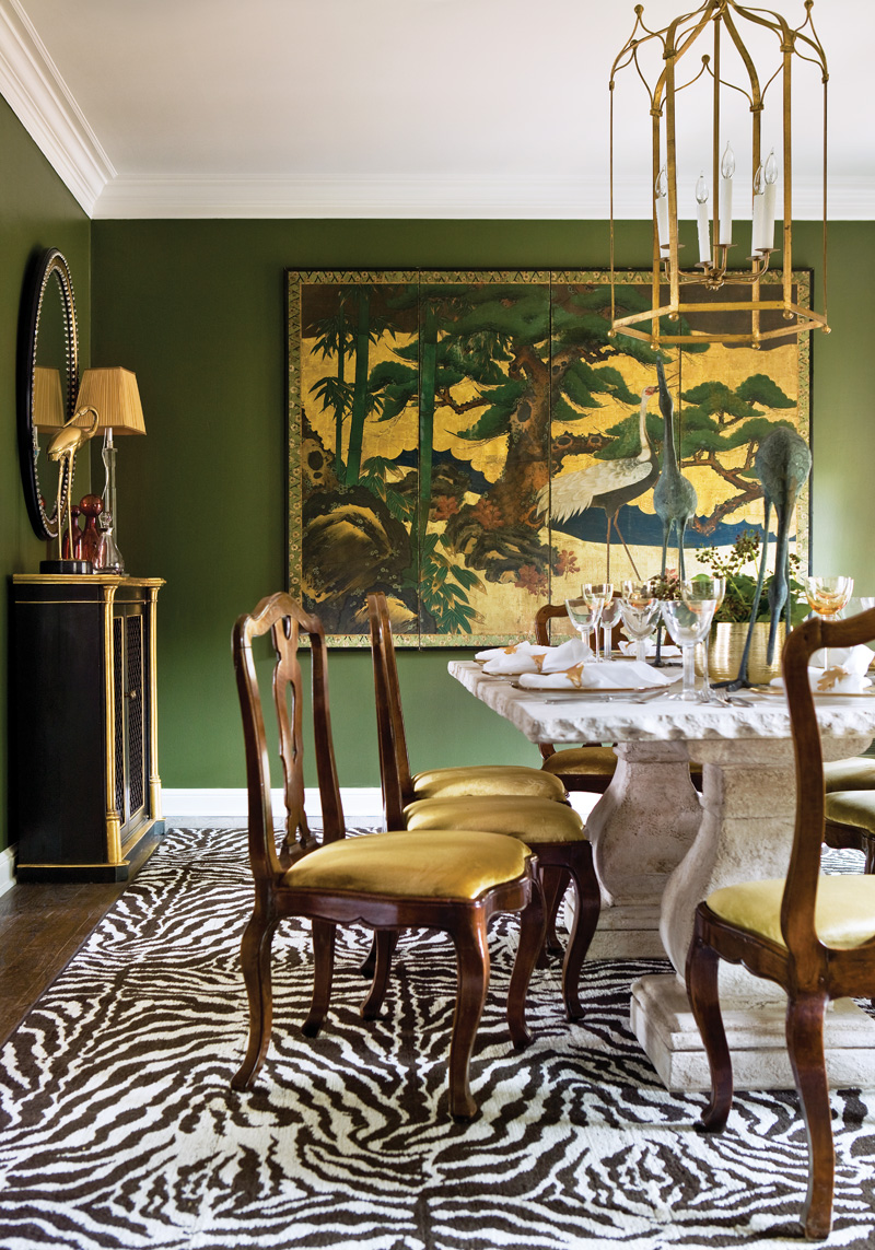 Dining Room Ideas With Gold Curtains